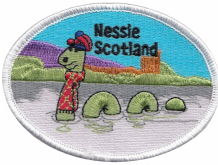 Scotland Nessie Loch Ness Monster Oval Embroidered Badge (a517)
